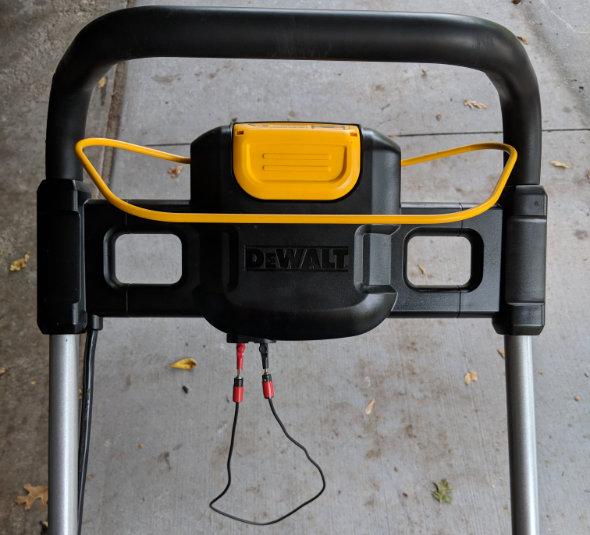 Dewalt 2x20V mower bypassing the safety key