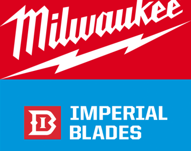 Milwaukee Tool and Imperial Blades USA Logos
