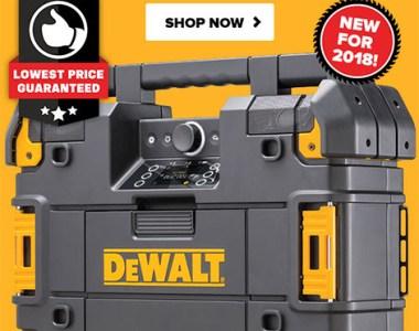 Tool Nut Dewalt TStak Radio Deal October 2018