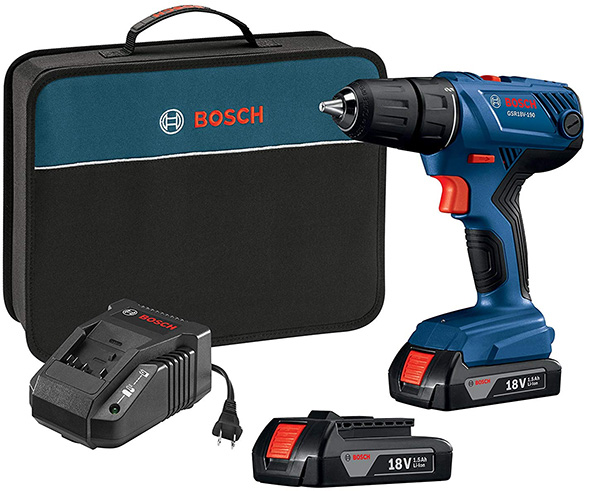 Bosch GSR18V-190B22 18V Cordless Drill Kit Deal