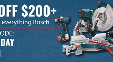 Bosch One-Day Deal at Acme Tools 11-5-2018