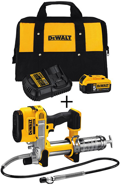 Dewalt Black Friday 2018 Tool Deal Grease Gun Kit DCB205CKW571B