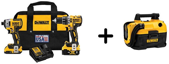 Dewalt DCK287D1M1DCV580H Black Friday 2018 Cordless Power Tool Bonus Deal