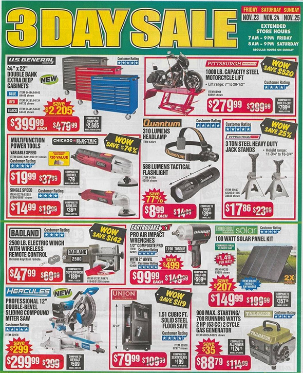 Harbor Freight Black Friday 2018 Ad Scan Page 5