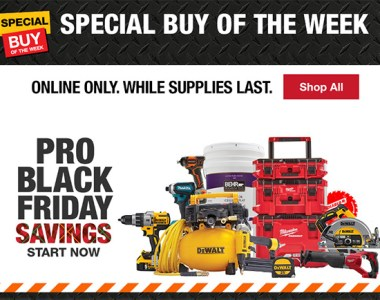 Home Depot 2018 Pro Black Friday Savings