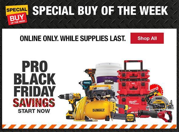 Home Depot 2018 Pro Black Friday Savings
