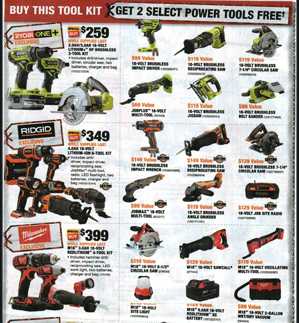 Home Depot Black Friday 2018 Tool Deals Page 13
