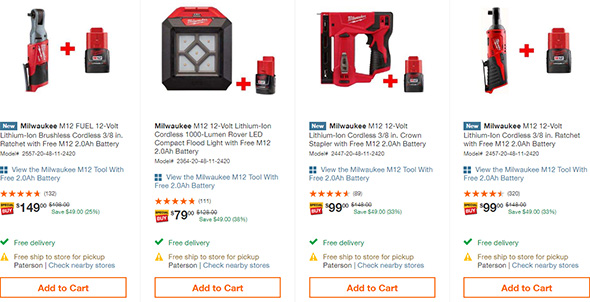 Home Depot Early Black Friday 2018 Milwaukee M12 Cordless Power Tool Deal Page 1