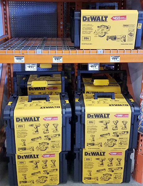 Home Depot Pro Black Friday 2018 Tool Deals Dewalt Cordless Power Tool and Rolling Tool Box Bundle