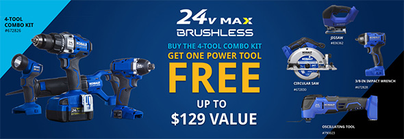 Kobalt 24V Max Pre Black Friday 2018 Free Bonus Tool Offer