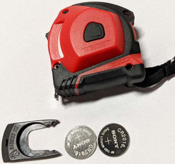 Milwaukee 10 Foot Keychain tape batteries