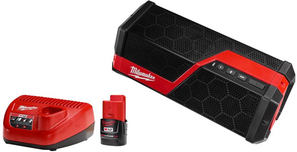 Milwaukee Cordless Bluetooth Speaker Kit Black Friday 2018 Special Buy