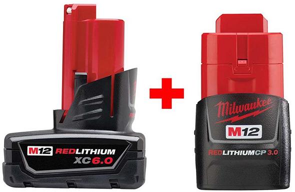 Milwaukee M12 High Capacity Batteries 48-11-2460-48-11-2430