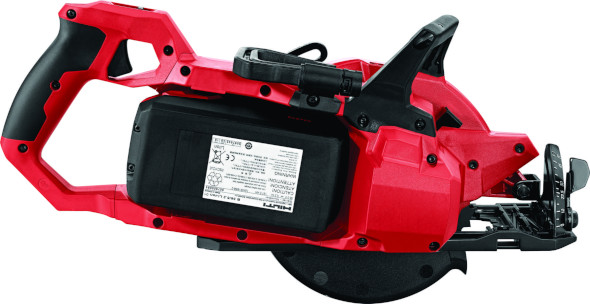 New Hilti SC 60W-A36 worm-drive style saw battery side