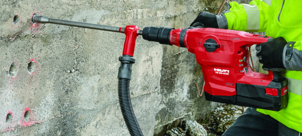 New Hilti TE 60-A36 SDS Max Combihammer drilling holes