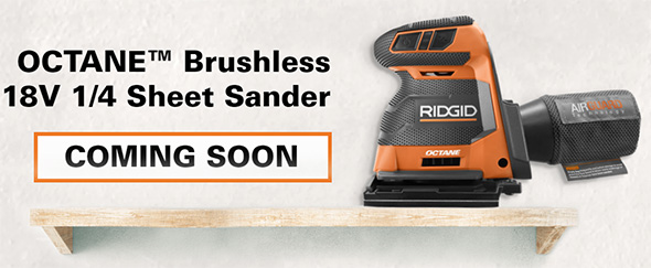 Ridgid 18V Octane Brushless Quarter Sheet Sander