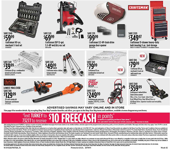 Sears Black Friday 2018 Tool Deals Page 7