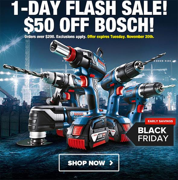 Tool Nut Bosch Flash Sale 11-20-18