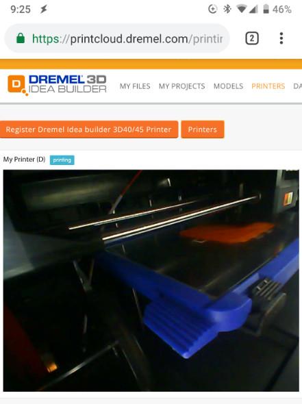 Dremel 3D online software on your phone