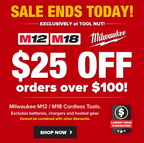 Tool Nut Milwaukee Corldess Power Tool Coupon 12-7-18