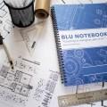 Blu Notebook on Designer Table