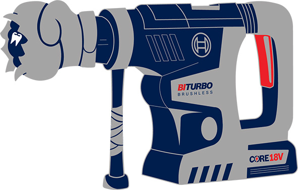 Bosch Goon Cordless Rotary Hammer