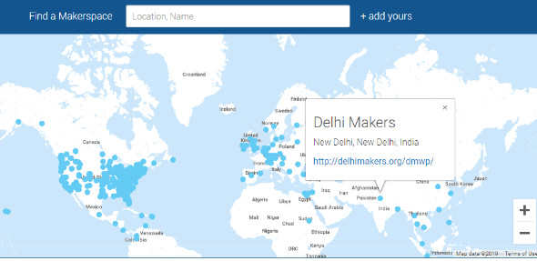 Map of Maker Spaces