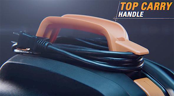 Ridgid NXT Vac Top Handle Cord Wrap