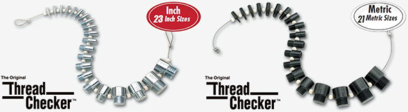 S and W Manufacturing Thread Checkers in Inch and Metric