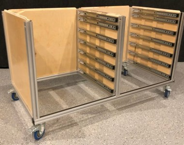 Adding Sides to Modular Tool Cabinets - Journey to an Organized Workshop Part 2 - Sides installed