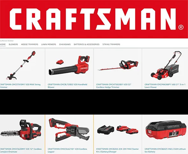 Craftsman Store at Amazon Snippet