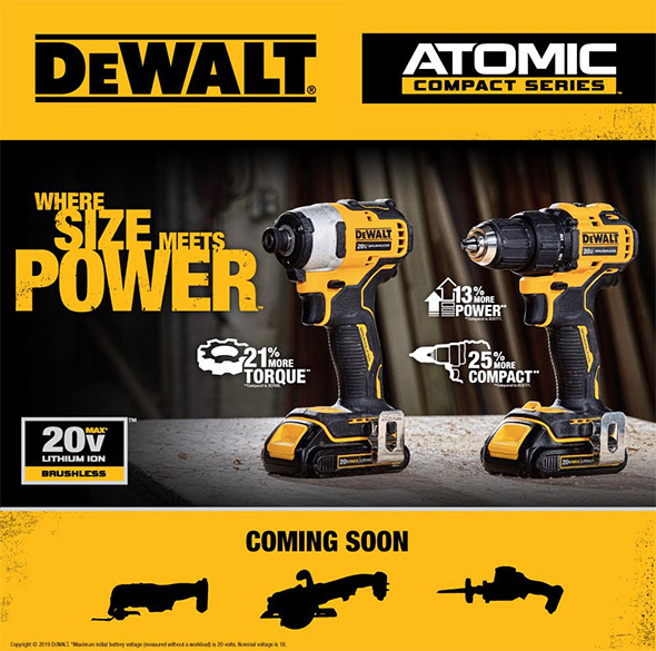 Dewalt Atomic 20V Max Compact Brushless Cordless Power Tools
