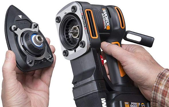 Worx 20V Multi-Sander WX820L Sanding Pad Changing