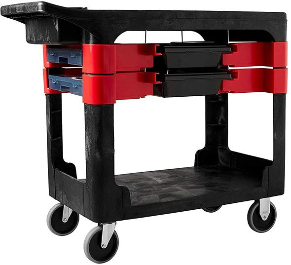 Rubbermaid 2-Tray Utility Cart