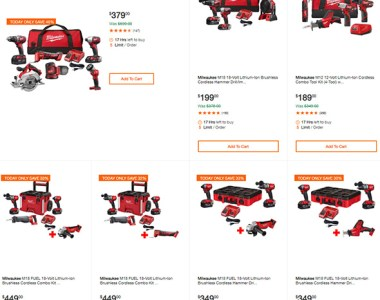 Milwaukee Cordless Power Tools Deals of the Day 6-19-19 Page 1