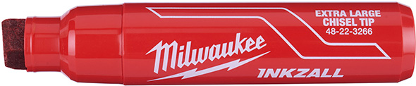Milwaukee Inkzall Extra Large Chisel Tip Marker in Red