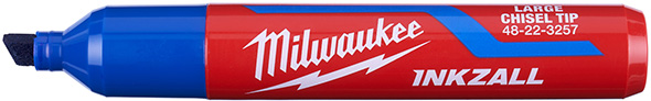 Milwaukee Inkzall Large Chisel Tip Blue Marker