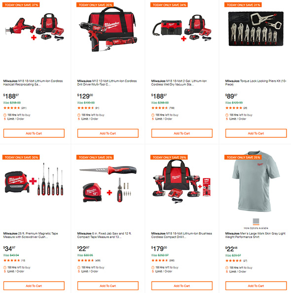 Milwaukee Cordless Power Tool Deals of the Day 7-24-19 Page 3