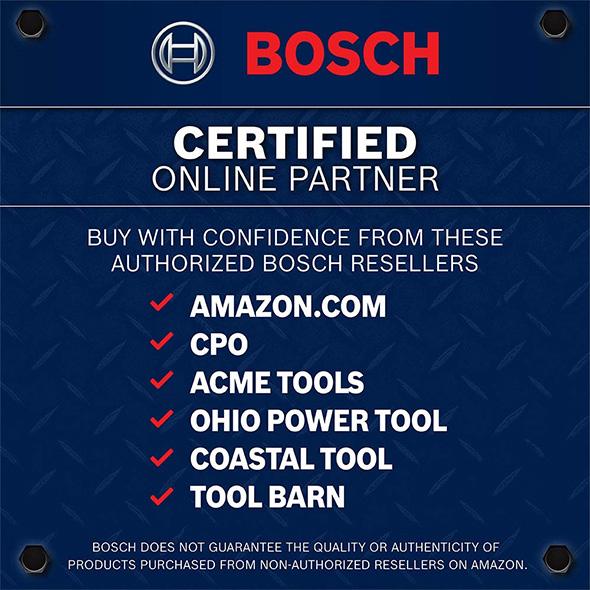 Bosch Certified Online Partner Notice on Amazon