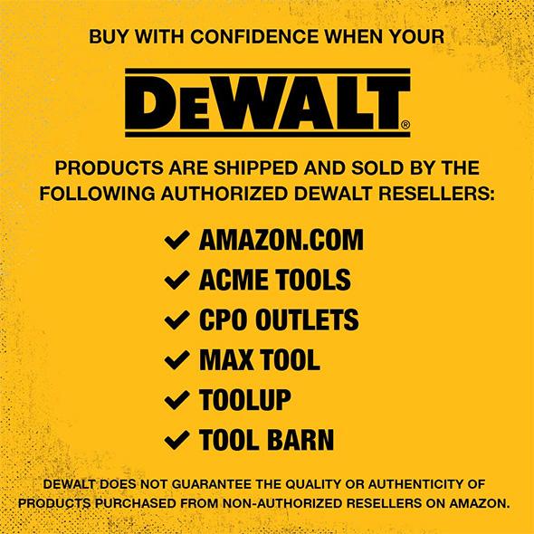 Dewalt Reseller Confidence Notice on Amazon