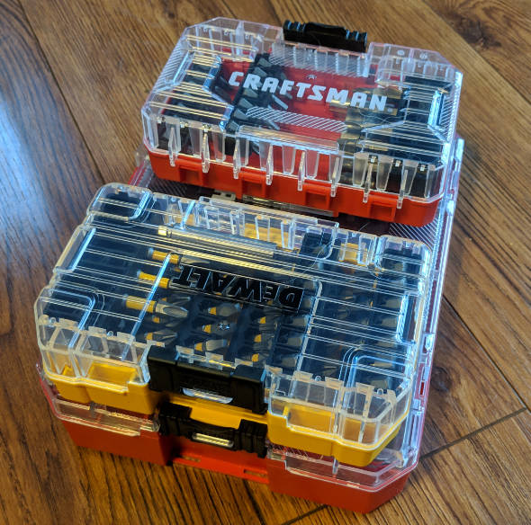 Dewalt ToughCase+ Mixed with Craftsman Containers