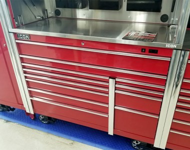 Harbor Freight Icon Tool Cabinet with Stainless Steel Top