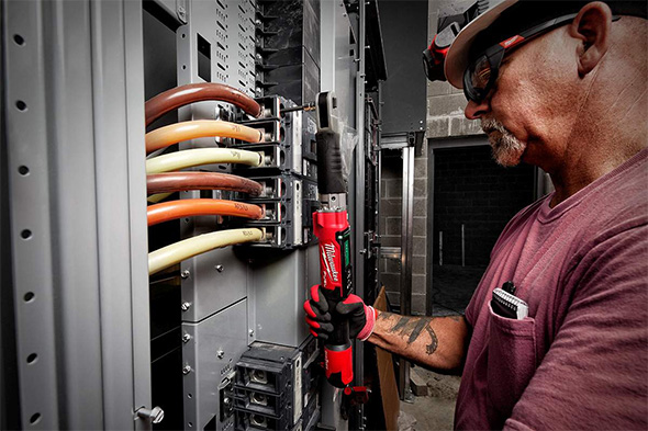 Milwaukee M12 Cordless Torque Wrench in Wiring Application