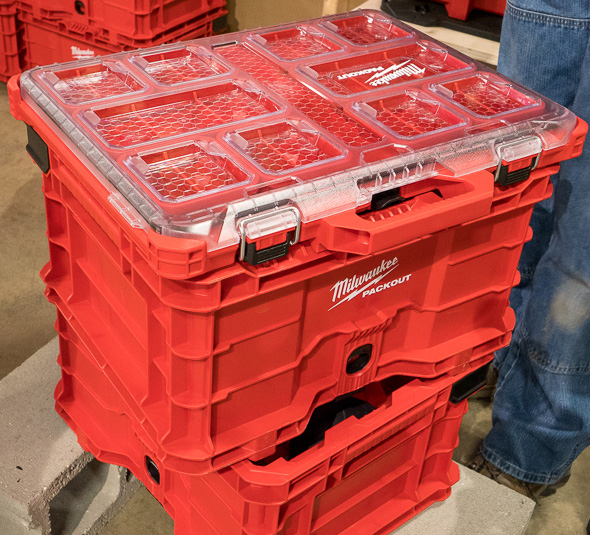 Milwaukee Packout Tool Crate with Organizer on Top