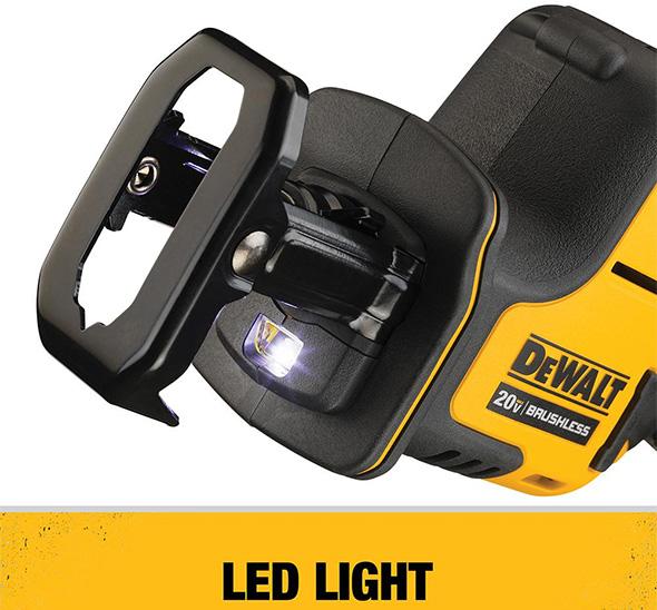 Dewalt Atomic DCS369B One-Handed Cordless Reciprocating Saw LED Worklight