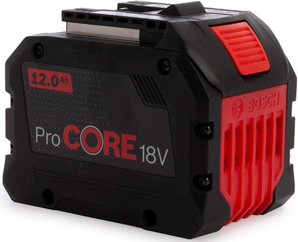 Bosch CORE18V 12Ah Battery Front Side