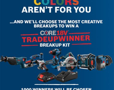 Bosch Cordless Power Tool Breakup Contest