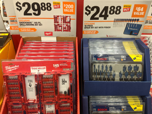 Home Depot 2019 Pre Black Friday Special Buys Bosch and Milwaukee Accessories