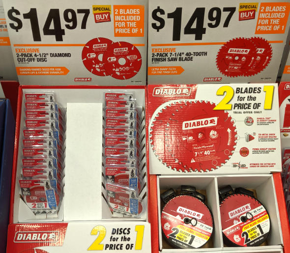 Home Depot 2019 Pre Black Friday Special Buys Diablo Blades