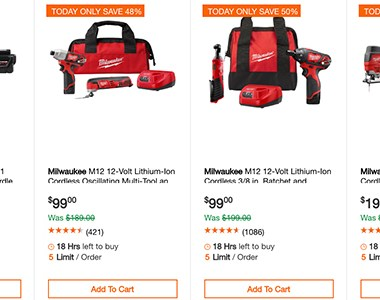 Home Depot Milwaukee Special Buy Tool Deals of the Day 11-13-19 Page 1